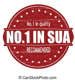 No one in SUA - Stamp with text no one in SUA inside, vector...