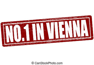 No one in Vienna - Stamp with text no one in Vienna inside, ...
