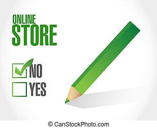 no online store sign concept illustration