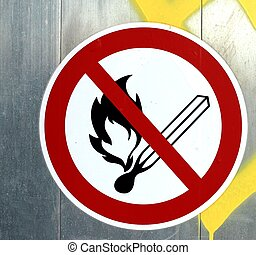 No open fire sign