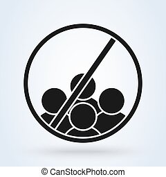 No or Stop. Group sign. Simple vector modern icon design ...