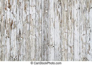 no., oud, verweerd, houten, achtergrond, negen, witte