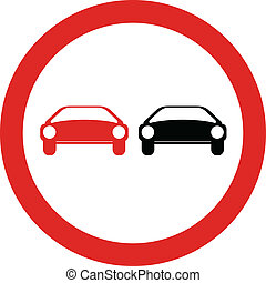 No overtaking road sign