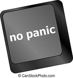 No panic key on computer keyboard - social concept