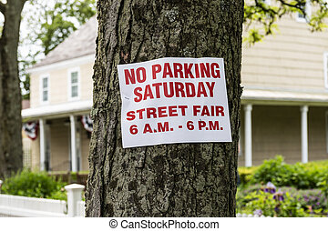 No Parking Saturday - Street Fair