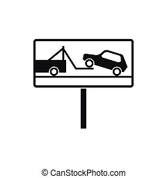 No parking sign icon, simple style