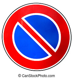 No parking sign isolated