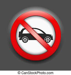 No parking sign, vector eps10 illustration