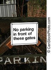 No parking Sign Post