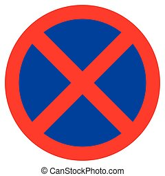 No parking sign - Vector illustration of the traffic sign...