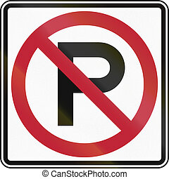 No Parking Square Sign