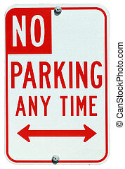 No Parking Any Time street sign
