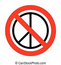 No Peace sign illustration.