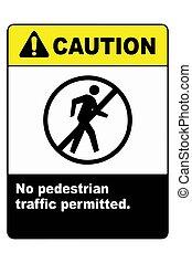 No pedestrian traffic sign vector