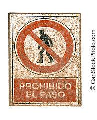 No pedestrians traffic sign