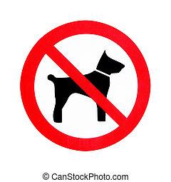 no, permitido, perros