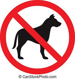 no, perro, señal