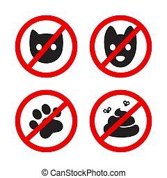 No pets allowed icon set