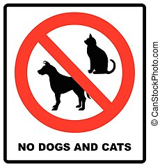 no pets allowed sign. round red no pets vector isolated illustration