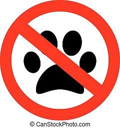 No pets allowed vector sign