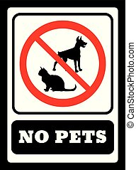 No pets sign. Pets are not allowed icon. No dogs sign and No...