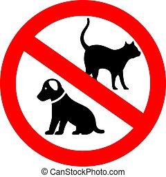 No pets vector sign