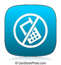 no phone blue icon