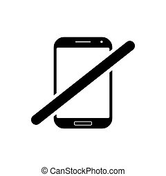 No phone outline icon. Symbol, logo illustration for mobile concept and web design.