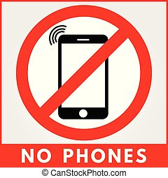 No phone sign. Vector illustration