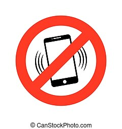 NO phone sign. Vector illustration.