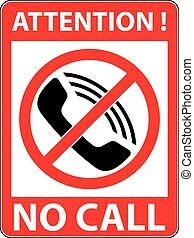 No phone, telephone prohibited symbol. Vector. - No phone,...