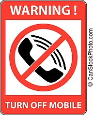 No phone, telephone prohibited symbol. Vector. - No phone,...