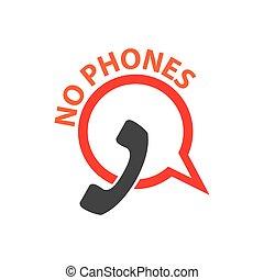 No phone vector icon. Symbol is forbidden to call