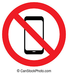 No phone vector sign