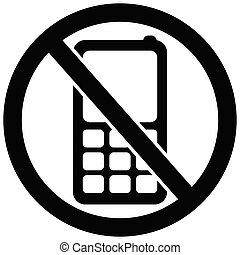 No Phones Allowed Icon Forbidden Calls Sign No Entry Circle Vector Illustration