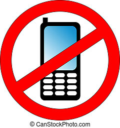 no phones - do not use mobil phones sign