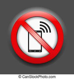 No Phones Sign