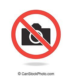 no photo, camera sign and symbol