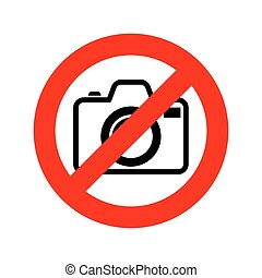 No Photo camera sign. Vector illustration. No photography...