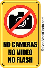 No Photo camera sign. Vector illustration