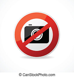 No photo camera vector sign isolated