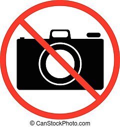 No photo, forbidden sign on white