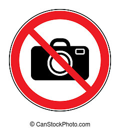 no photo sign - No photographing sign. Prohibition photo...