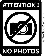 No photography, camera prohibited symbol. Vector.