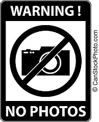 No photography, camera prohibited symbol. Vector. - No...