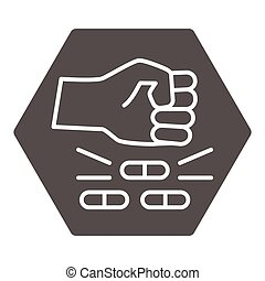 No pills solid icon, life without addiction concept, anti drug sign on white background, Narcotics destroy icon in glyph style for mobile concept and web design. Vector graphics