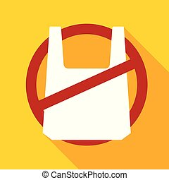 No plastic bag icon