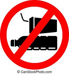 No plastic packaging vector sign