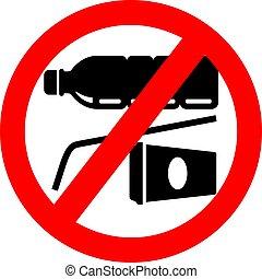 No plastic vector sign
