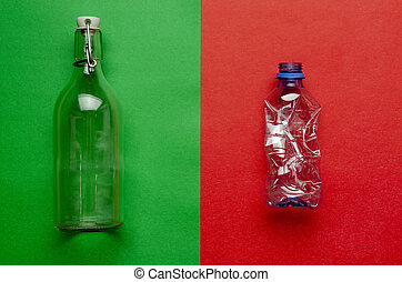 No plastic, Zero Waste, Sustainable Lifestyle. Choice Plastic Free Items